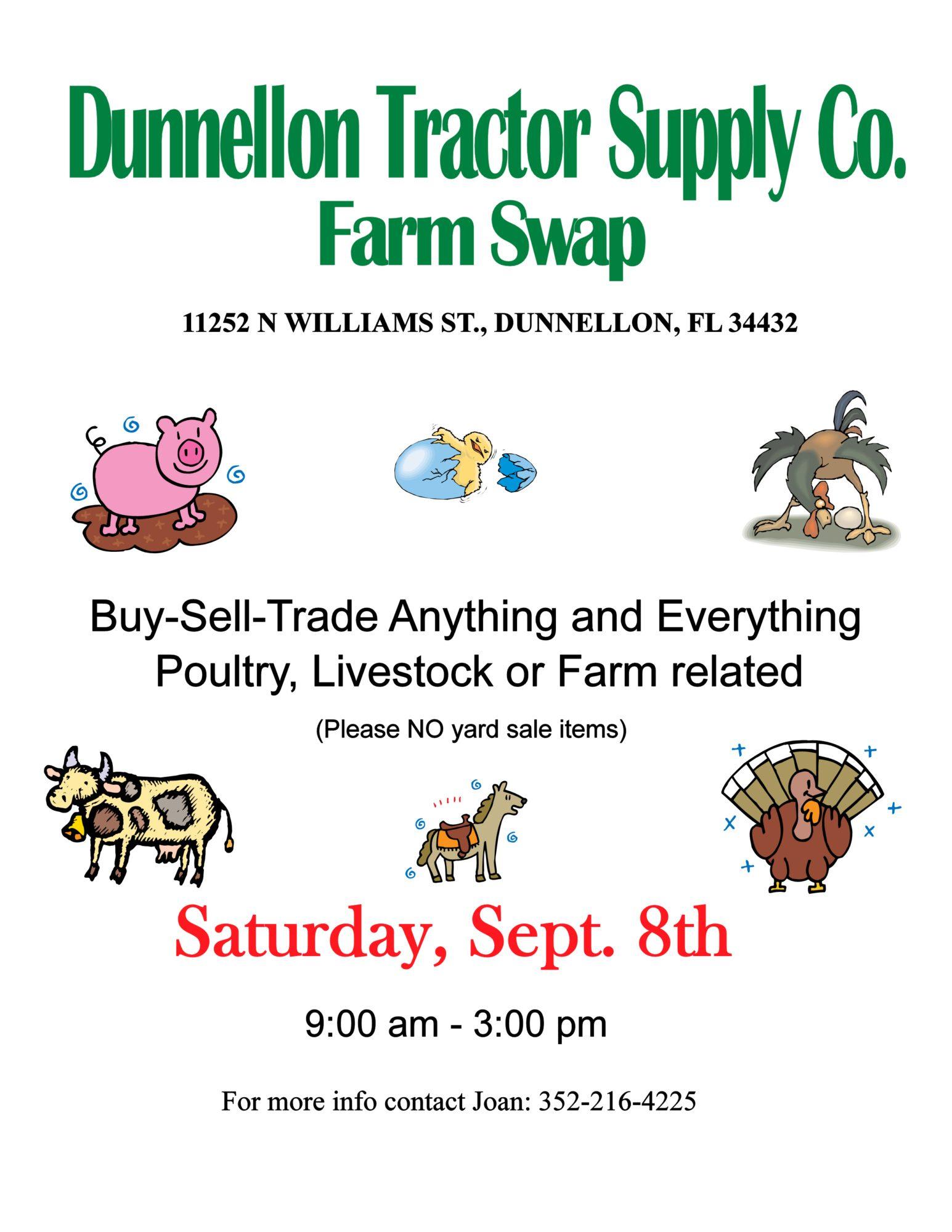Dunnellon, Florida TSC Swap Meet, Saturday, September 8th