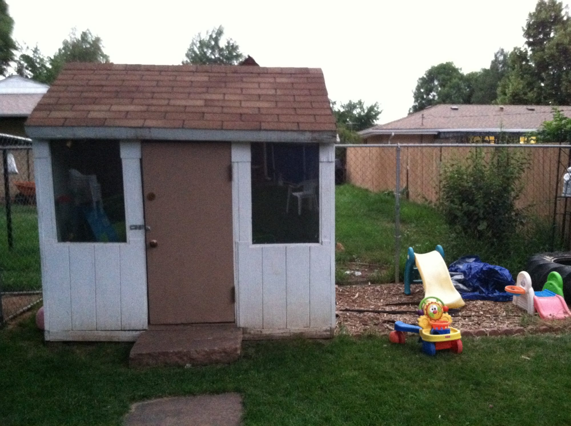 need some ideas for converting part of our shed pool house into