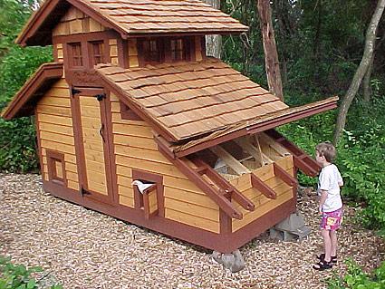 eenvoudig kippenhok bouwen